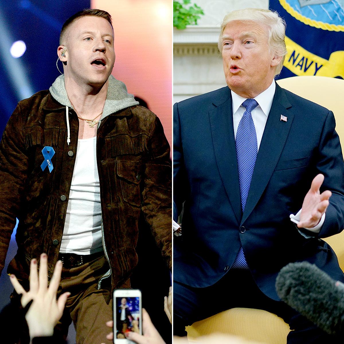 Macklemore and Donald Trump