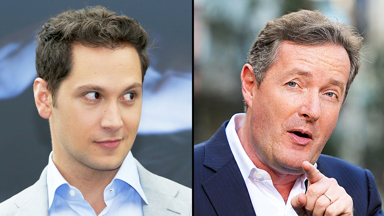 Matt McGorry and Piers Morgan (from left)