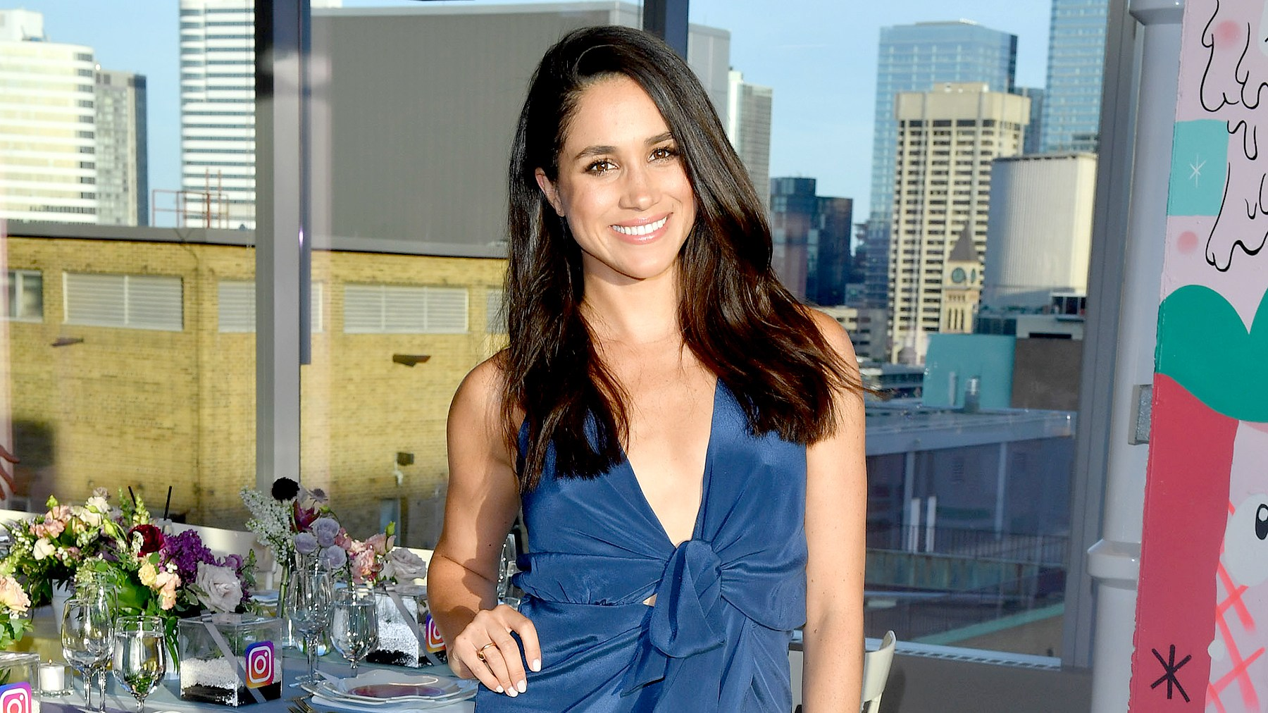 Meghan Markle attends the Instagram Dinner held at the MARS Discovery District on May 31, 2016 in Toronto, Canada.