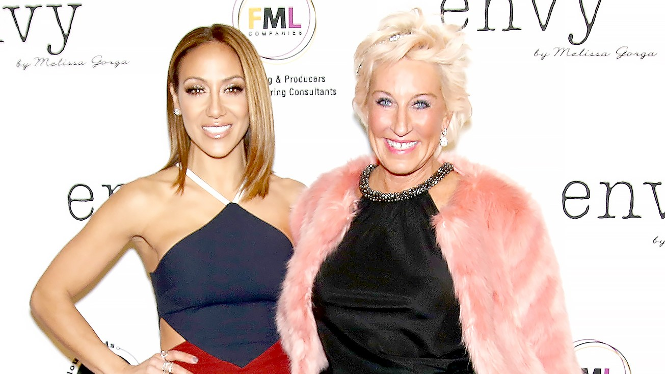 Melissa Gorga (L) and Jackie Beard Robinson attend the grand opening of envy by Melissa Gorga Boutique at envy by Melissa Gorga Boutique on January 14, 2016 in Montclair, New Jersey.