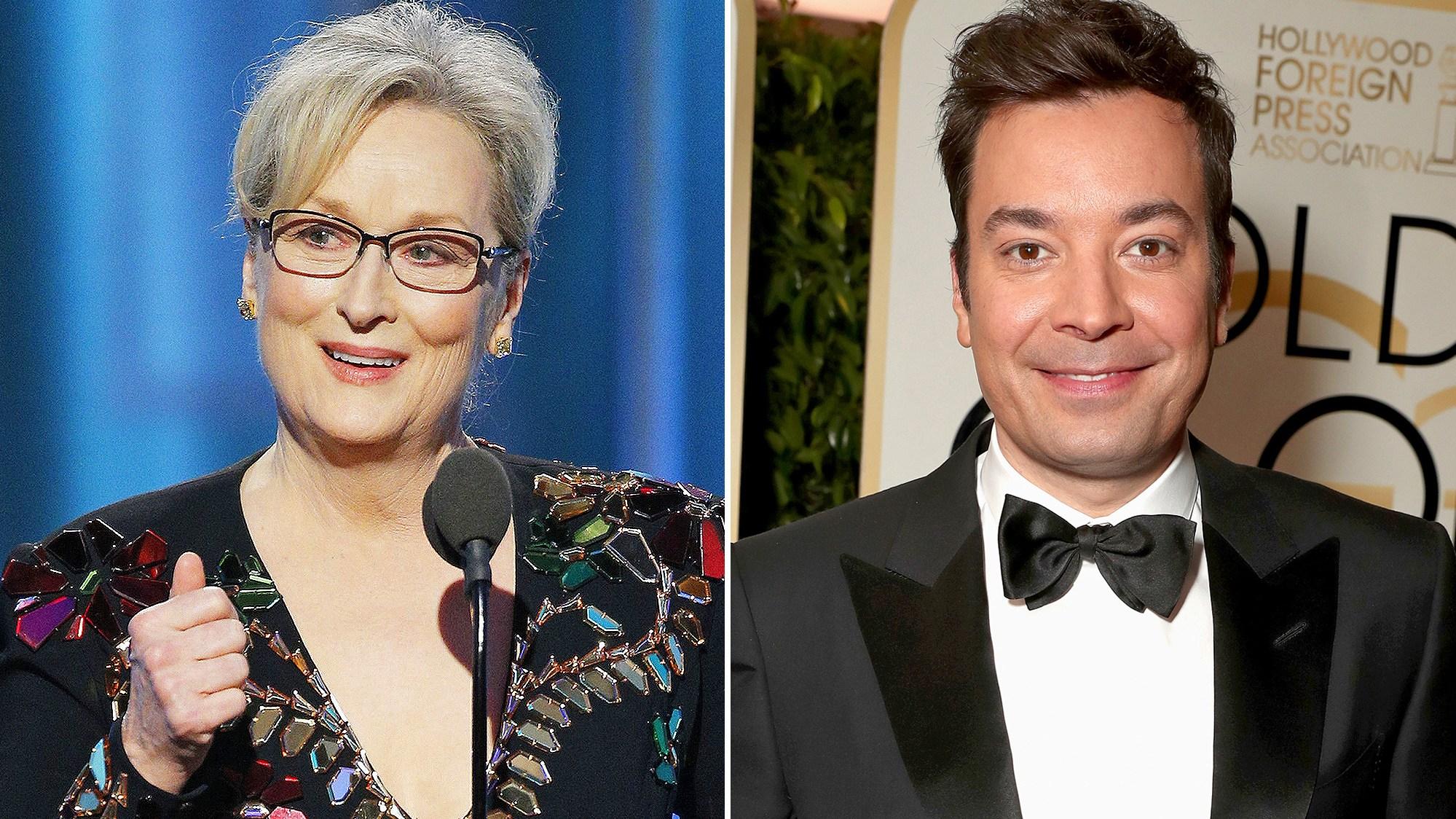 Meryl Streep and Jimmy Fallon