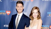 Michael Buble and Luisana Lopilato attend Tony Bennett Celebrates 90: The Best Is Yet To Come at Radio City Music Hall on September 15, 2016 in New York City.