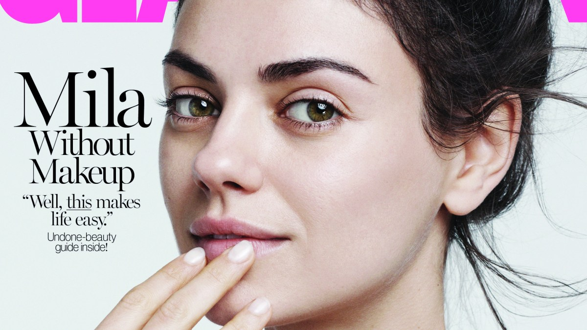 Mila Kunis Goes Without Makeup For Glamour I Dont Wear Makeup