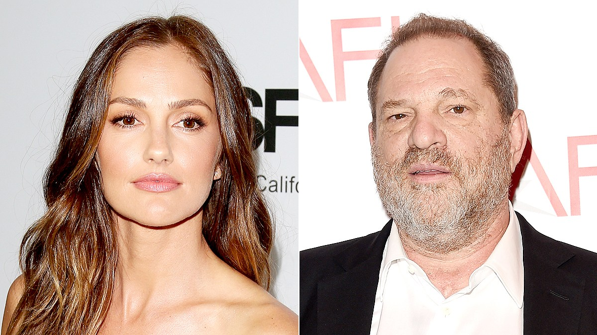 Minka Kelly and Harvey Weinstein