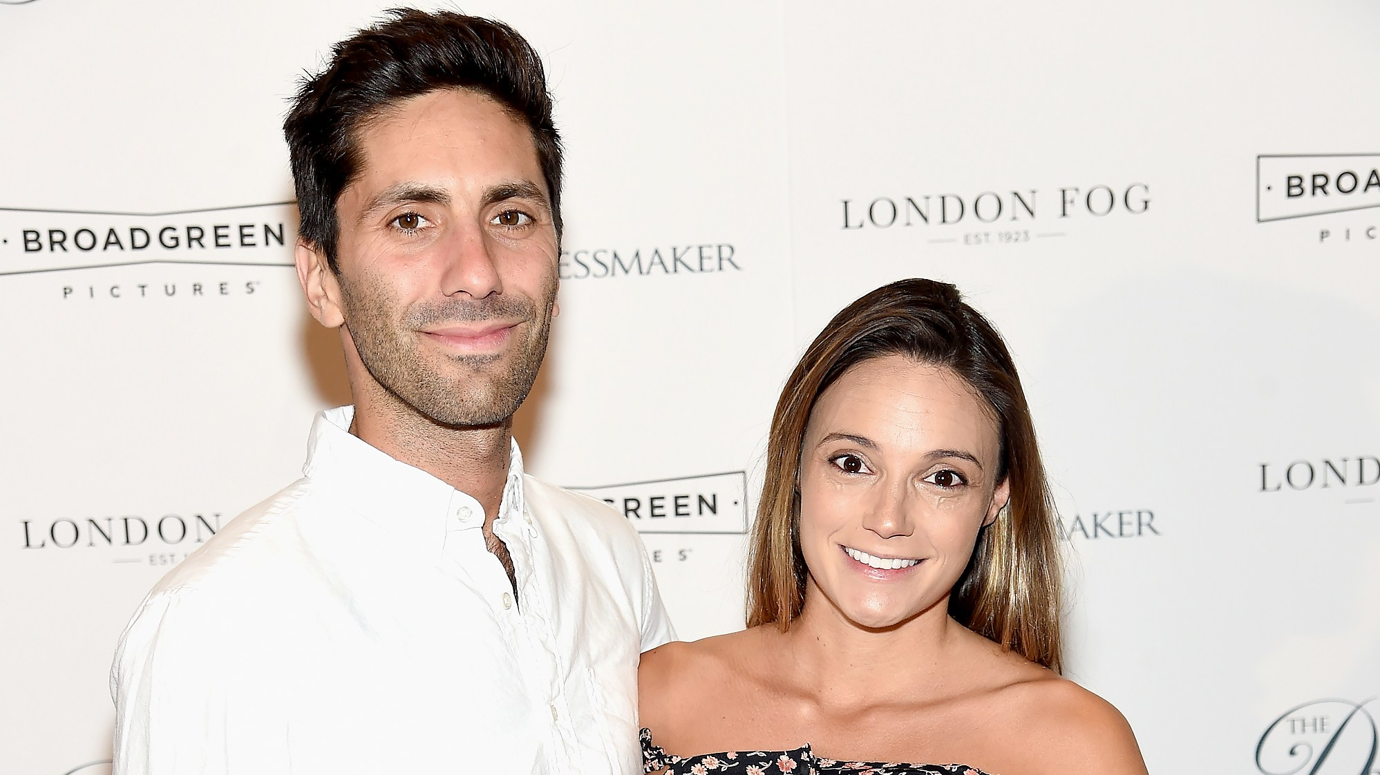 "Nev Schulman and Laura Perlongo attend ""The Dressmaker"" New York Screening at Florence Gould Hall Theater on September 16, 2016 in New York City."