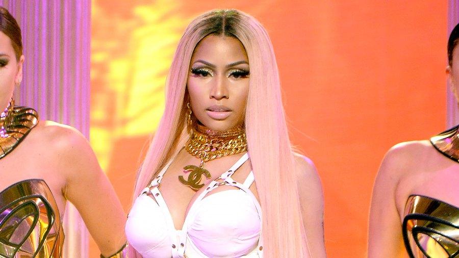 Nicki Minaj performs at the 2017 NBA Awards in New York City on June 26, 2017.