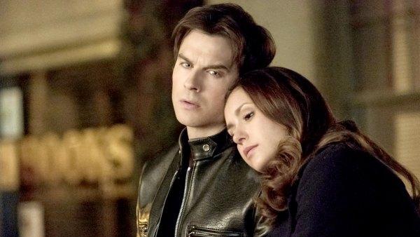Nina Dobrev and Ian Somerhalder on The Vampire Diaries