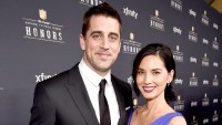 Aaron Rodgers and Olivia Munn attend 4th Annual NFL Honors at Phoenix Convention Center on January 31, 2015 in Phoenix, Arizona.