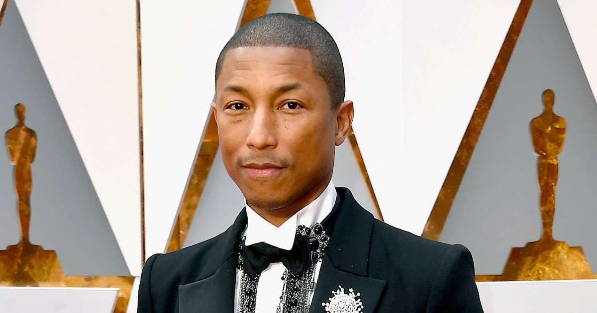 Pharrell Williams Receives Knitted Rockets for Triplets at ...