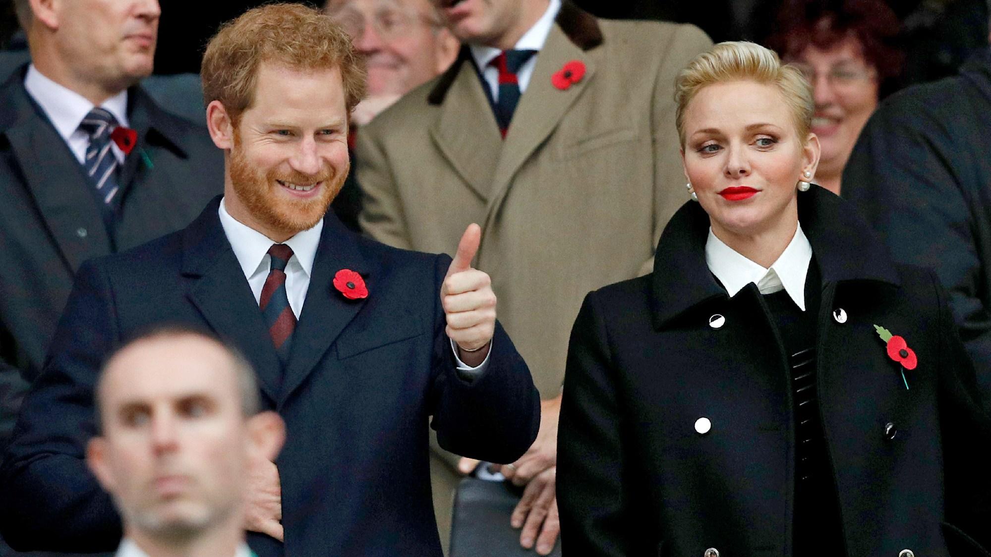Prince Harry and Princess Charlene of Monaco