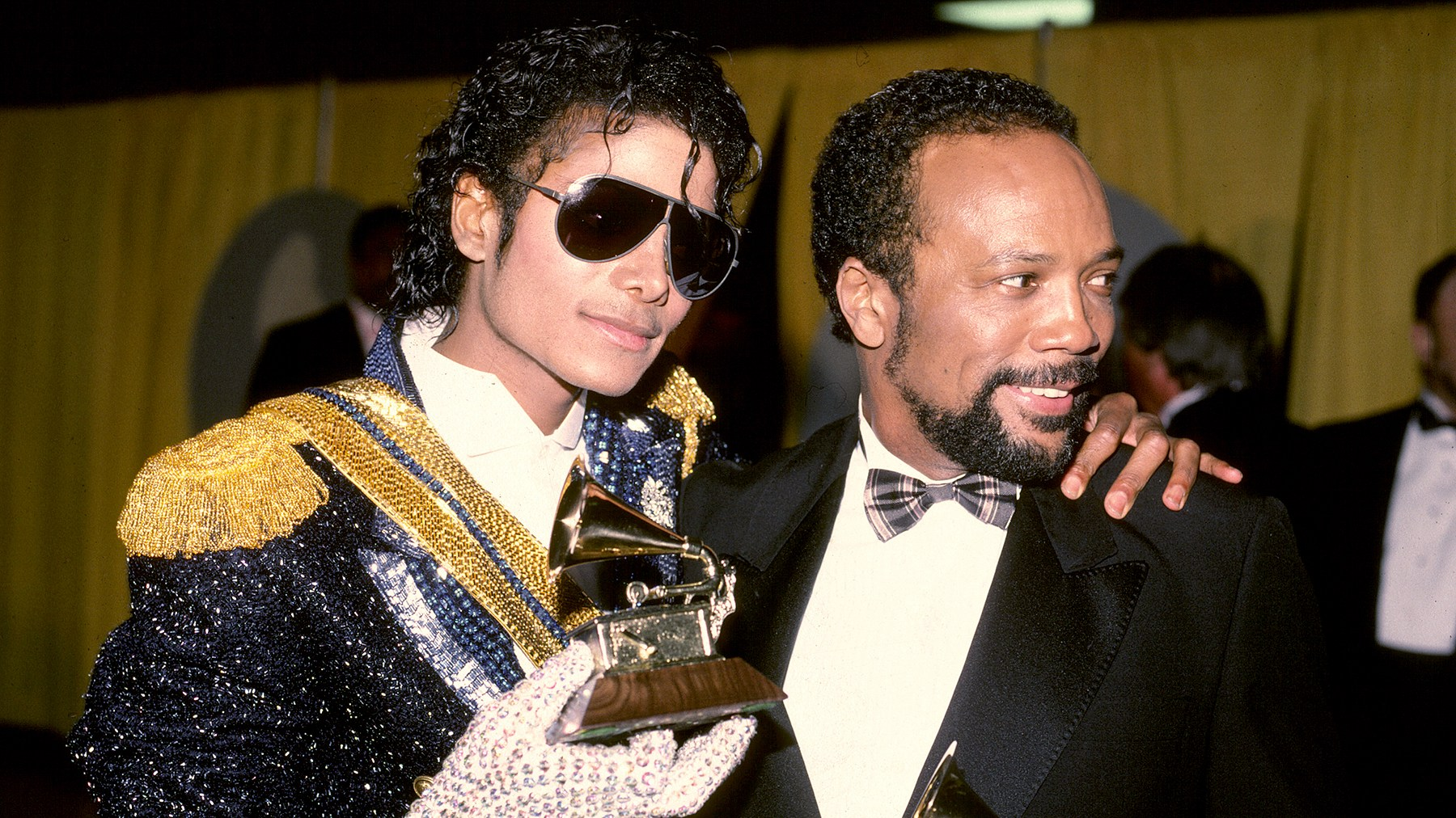 Michael Jackson with Quincy Jones at the 1984 Grammy Awards.