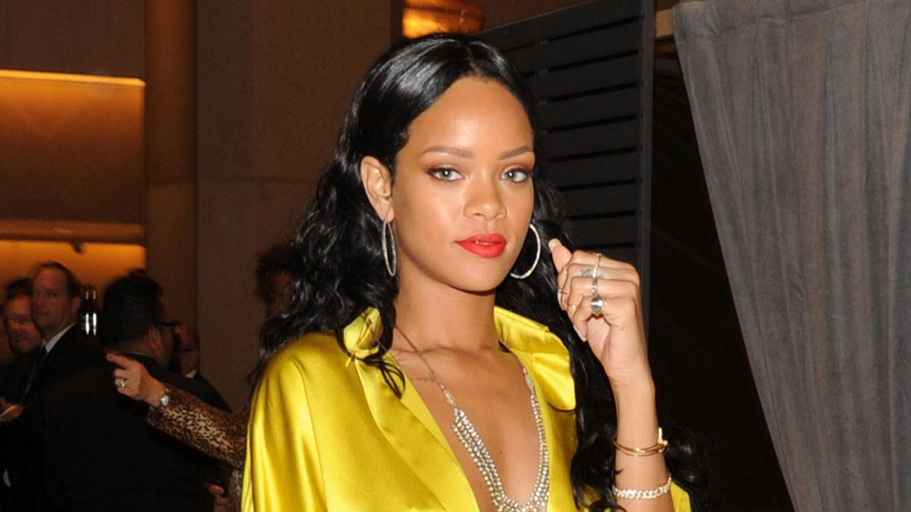 Rihanna during the 56th annual GRAMMY Awards Pre-GRAMMY Gala