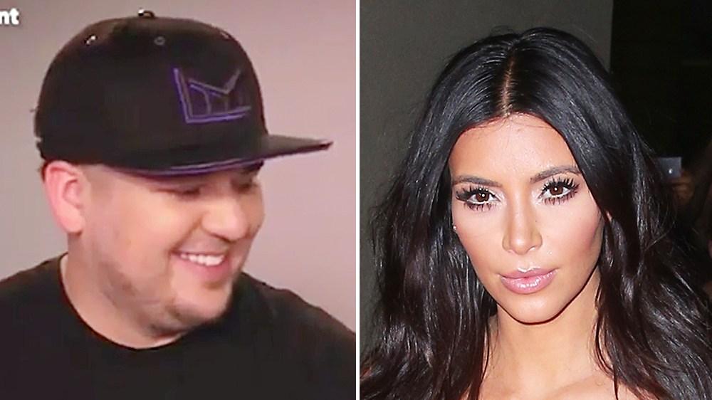 Rob Kardashian Kim Kardashian