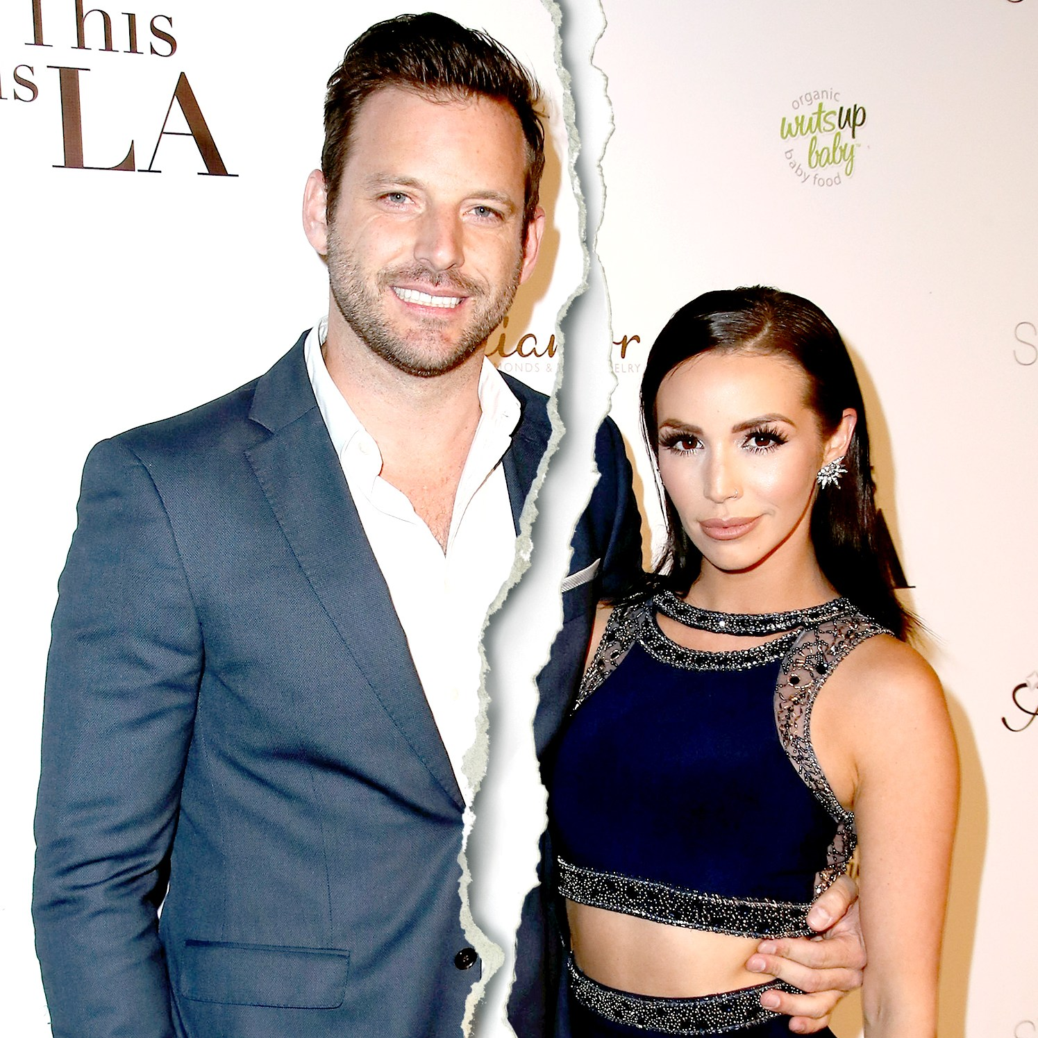 "Robert Parks-Valletta and Scheana Marie attend the premiere party for Circle 8 Production's ""This Is LA"" at Yamashiro Hollywood on May 3, 2017 in Los Angeles, California."