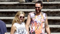 Russell Brand and girlfriend Laura Gallacher