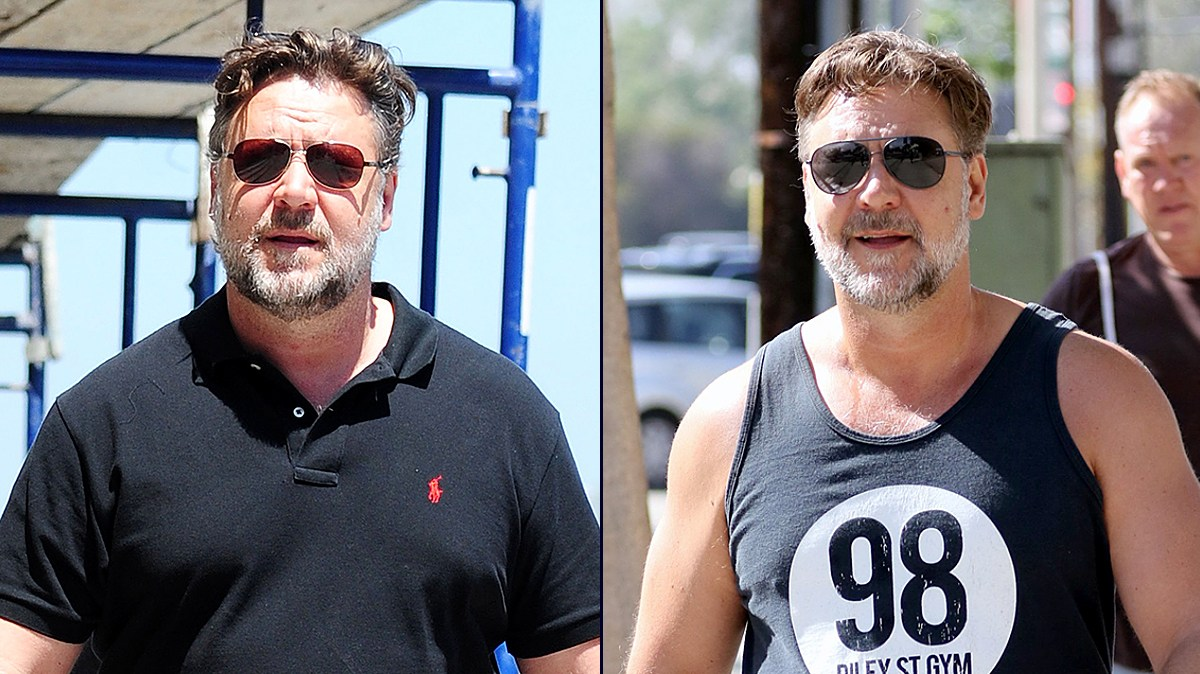 Russell Crowe goes for a run February 27, 2016.