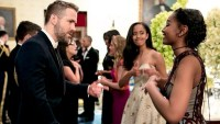 Ryan Reynolds Malia Obama Sasha Obama