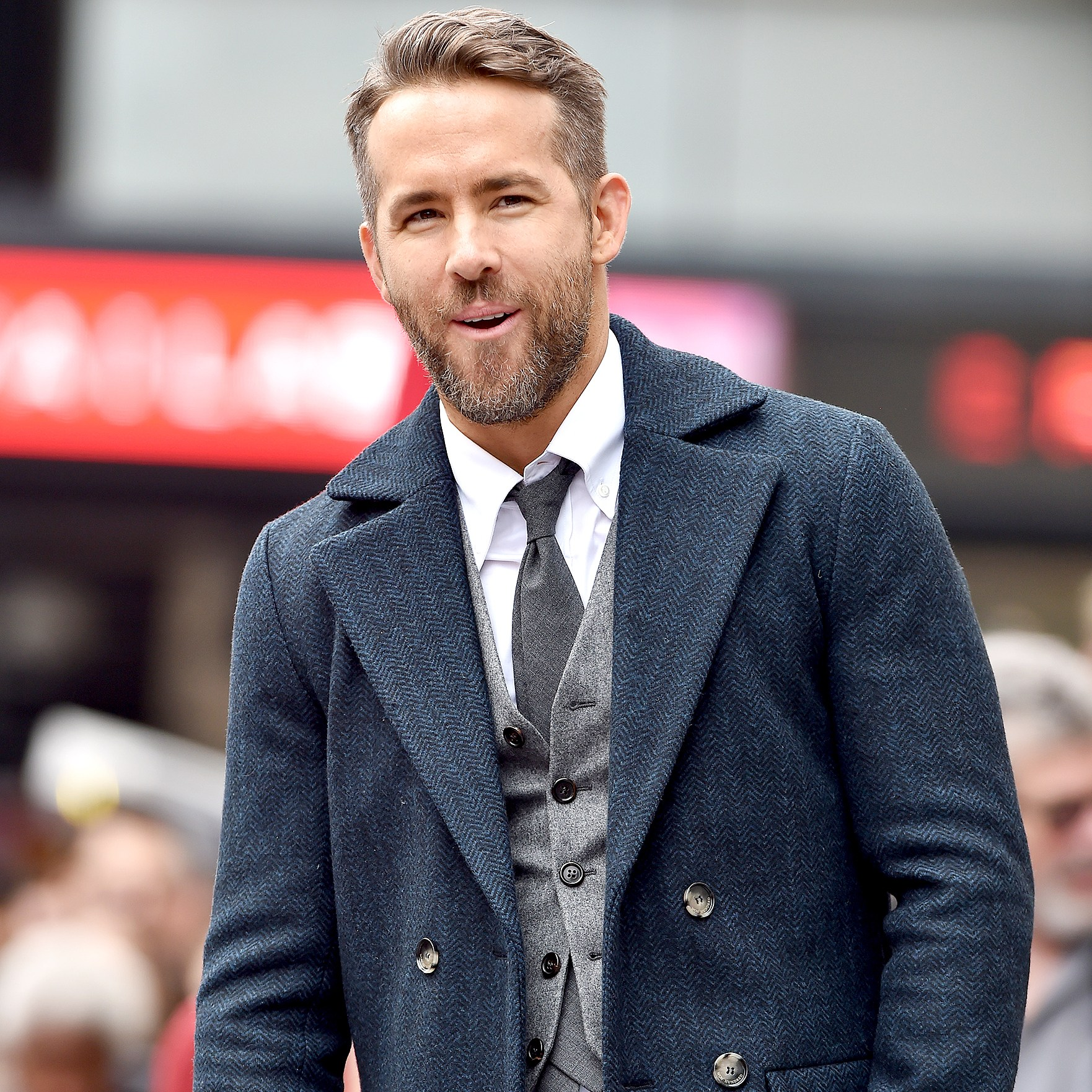 Ryan Reynolds honored with Star on the Hollywood Walk of Fame on December 15, 2016 in Hollywood, California.