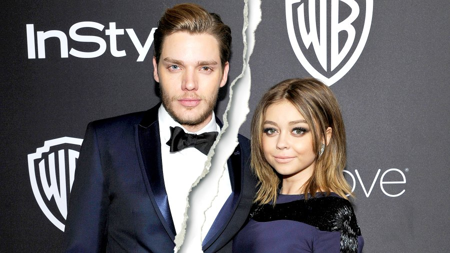 Dominic Sherwood and Sarah Hyland attend The 2017 InStyle and Warner Bros. 73rd Annual Golden Globe Awards Post-Party at The Beverly Hilton Hotel on January 8, 2017 in Beverly Hills, California.
