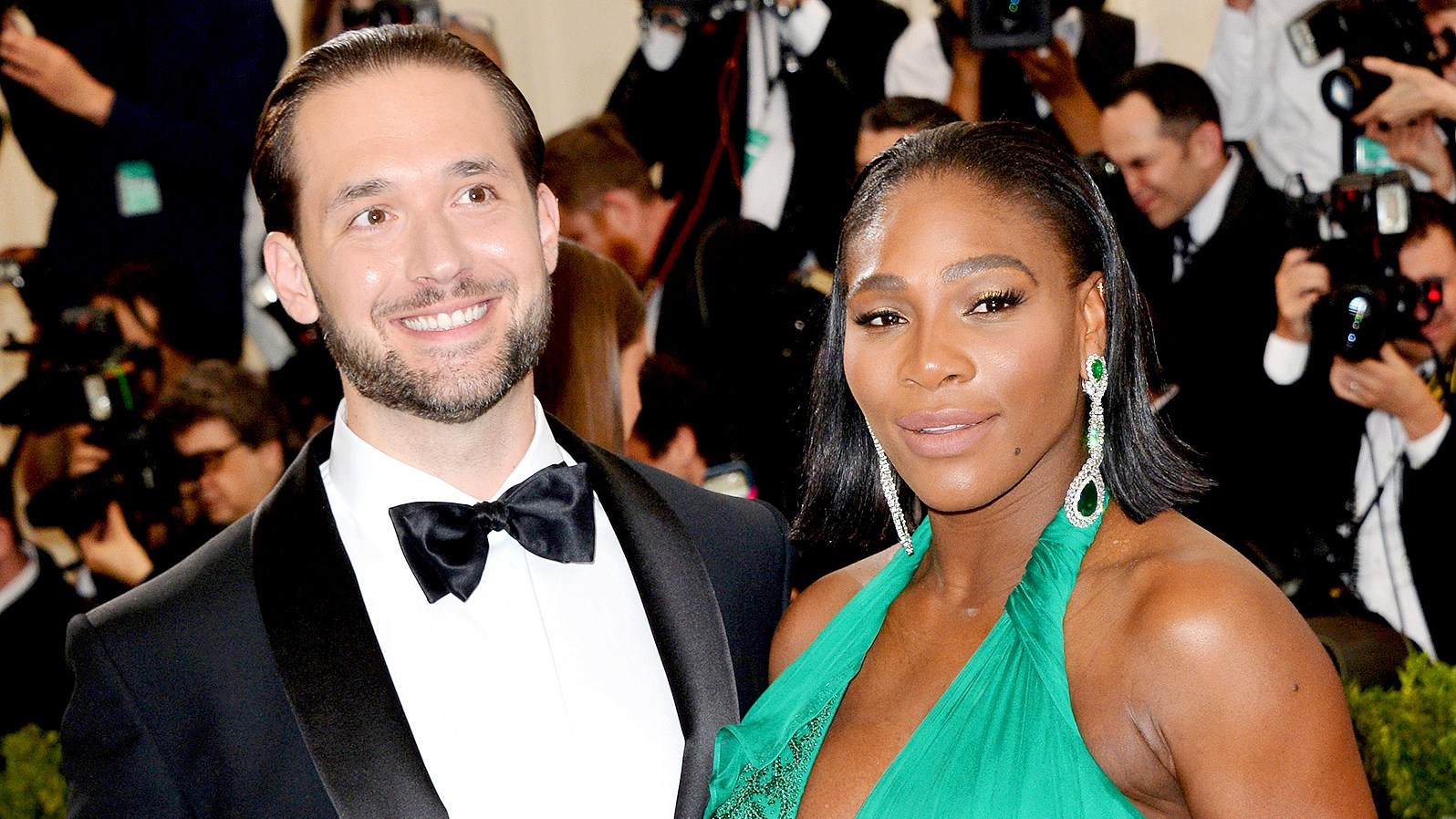 Serena Williams and Alexis Ohanian attend the 2017 Comme des Garcons-Art of the In-Between Costume Institute Gala at the Metropolitan Museum Of Art on May 1, 2017.