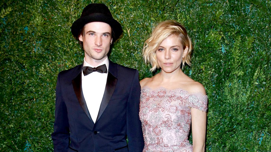 Sienna Miller and Tom Sturridge attends the 60th London Evening Standard Theatre Awards at London Palladium on November 30, 2014 in London, England.