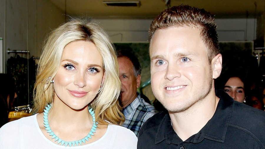 Stephanie Pratt and Spencer Pratt attend the US launch of MeMe London held at DiLascia in Los Angeles on July 28, 2015.