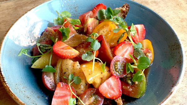 Strawberry Tomato Panzanella