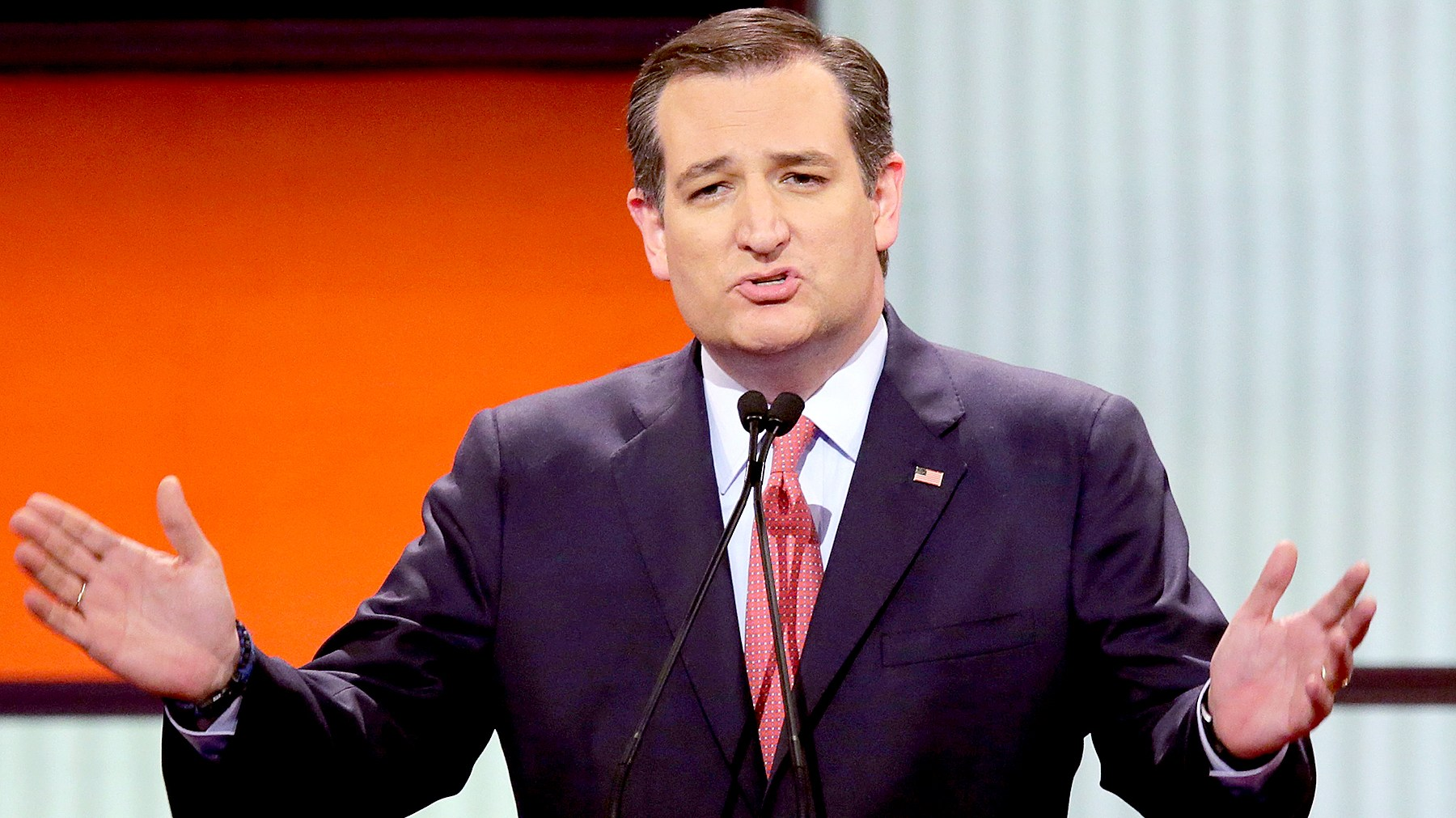 Republican presidential candidate Sen. Ted Cruz participates in a debate sponsored by Fox News at the Fox Theatre on March 3, 2016 in Detroit, Michigan.