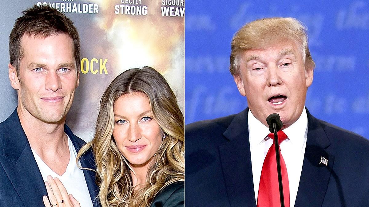 Tom Brady and Gisele Bundchen; Donald Trump
