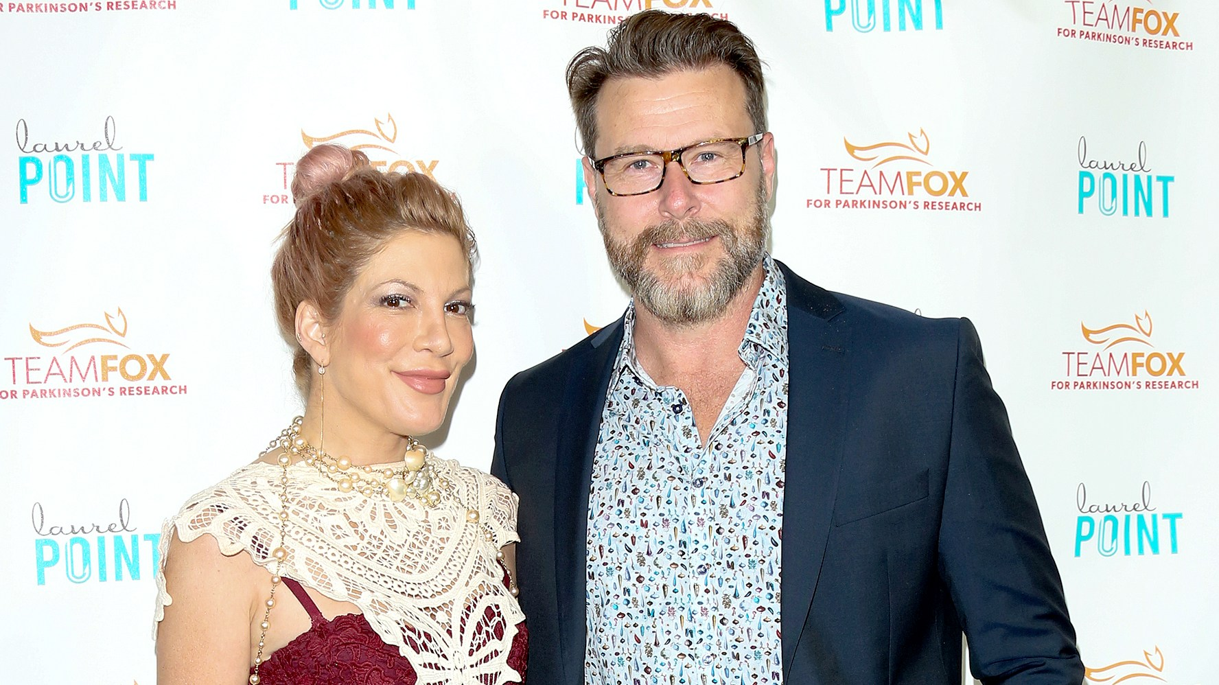 "Tori Spelling and Dean McDermott attend the ""Raising The Bar To End Parkinson's"" at Laurel Point on July 27, 2016 in Studio City, California."