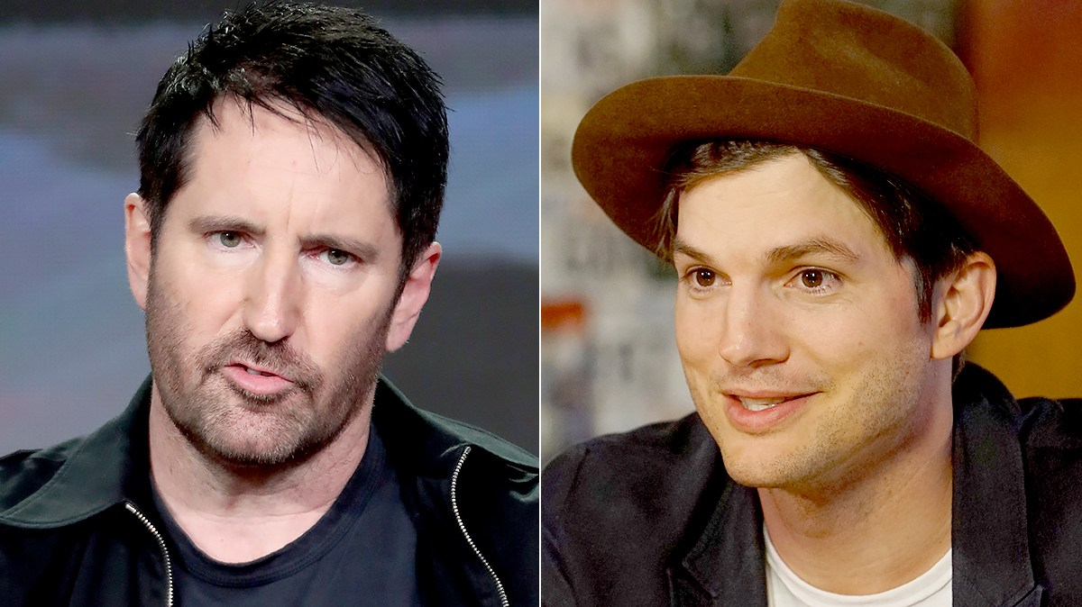 Trent Reznor and Ashton Kutcher