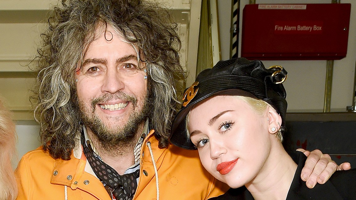 Wayne Coyne and Miley Cyrus attend at Carnegie Hall the Tibet House Benefit Concert 2015 on March 5, 2015 in New York City.