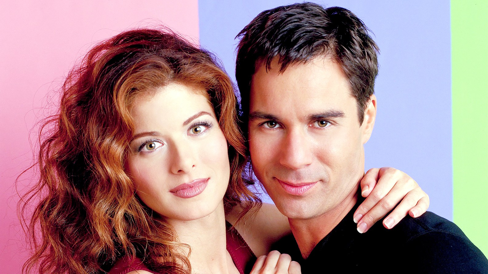 Debra Messing as Grace Adler and Eric McCormack as Will Truman on Will & Grace