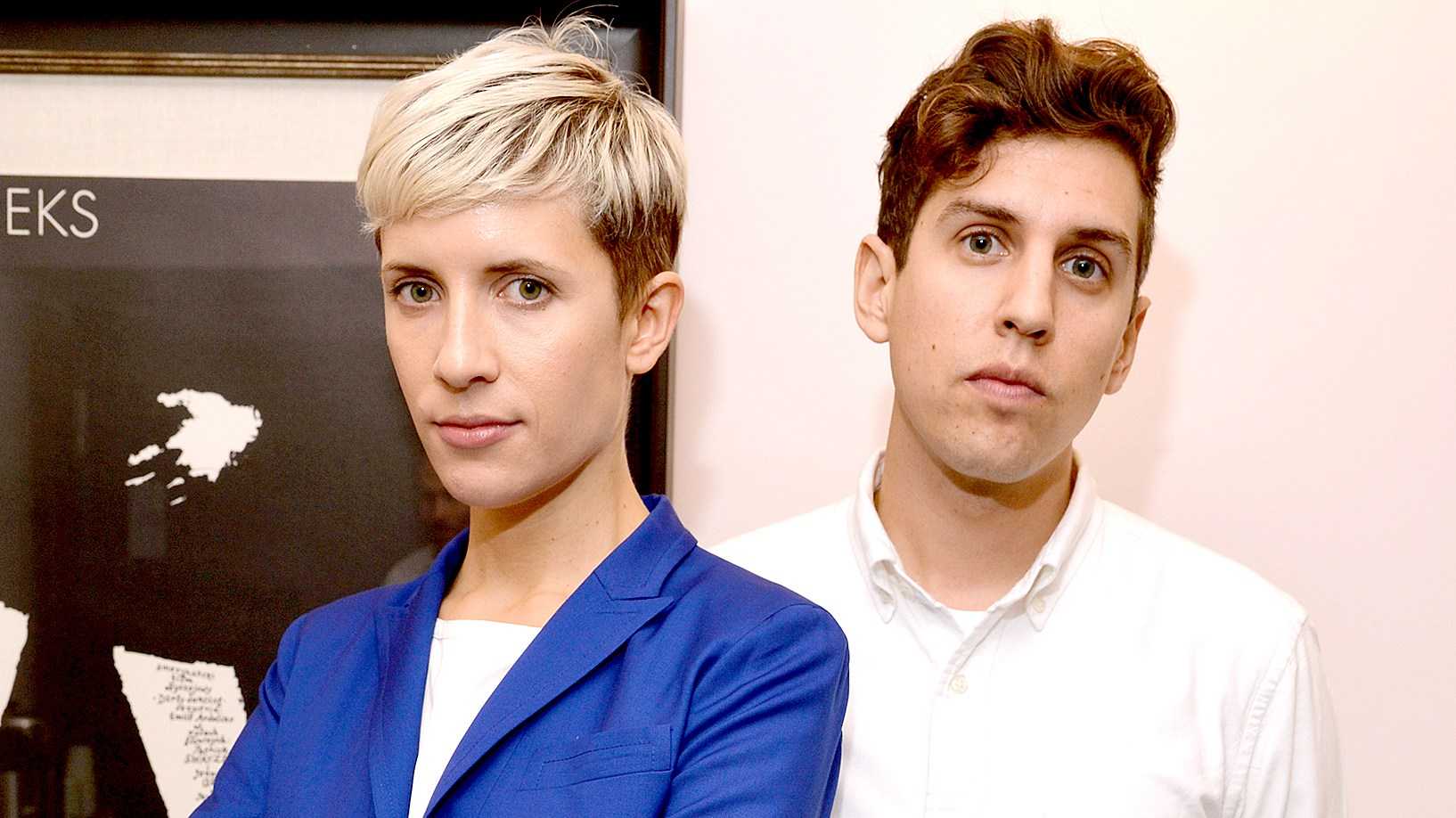 Claire Evans and Jona Bechtolt of the band Yacht attend the WIRED by Design retreat at Skywalker Sound on September 30, 2014.a