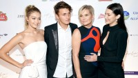 """Gigi Hadid, Anwar Hadid, Yolanda Foster and Bella Hadid attend the Global Lyme Alliance """"Uniting for a Lyme-Free World"""" Inaugural Gala at Cipriani 42nd Street on October 8, 2015 in New York City."""