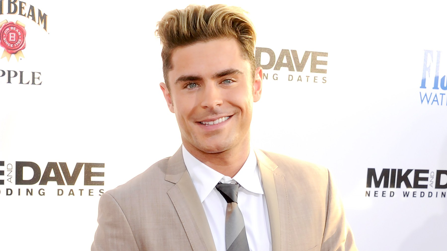 """Zac Efron arrives at the premiere of 20th Century Fox's """"Mike And Dave Need Wedding Dates"""" at the Cinerama Dome at ArcLight Hollywood on June 29, 2016."""