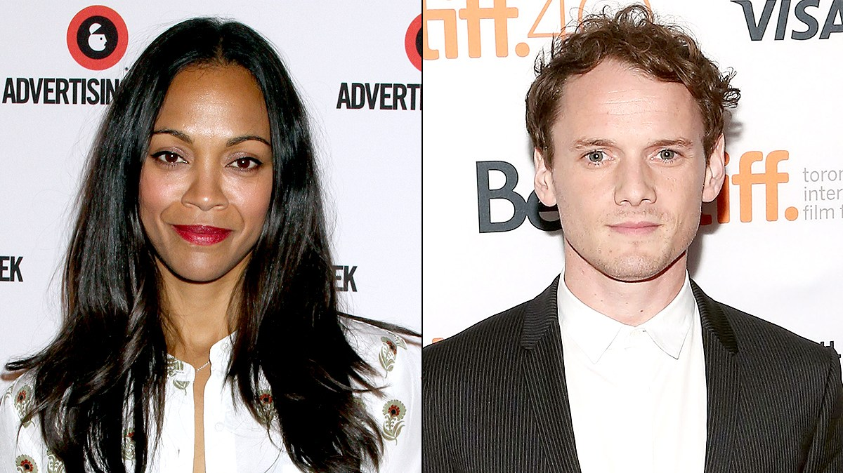 Zoe Saldana and Anton Yelchin