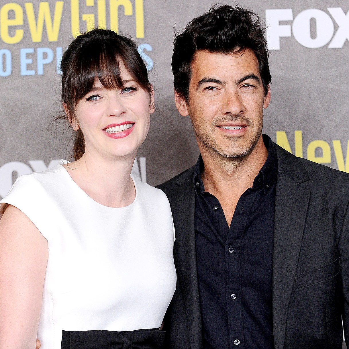 "Zooey Deschanel and Jacob Pechenik attend Fox's ""New Girl"" 100th episode party at W Los Angeles West Beverly Hills on March 2, 2016 in Los Angeles, California."