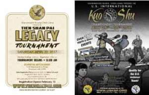 2017 Tien Shan Pai and U.S. International Kuo Shu Championship Tournaments