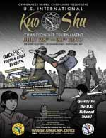 The 2017 U.S. International Kuo Shu Championship Tournament will be held in Hunt Valley, Maryland, July 28 - 30, 2017. This is an international tournament flyer