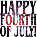 Fourth of July text with fireworks clip art created by M. Jakubowski ©2018 Maricar Jakubowski info@usmaltd.com All rights reserved. No usage allowed in any form without the written consent of the copyright holder.