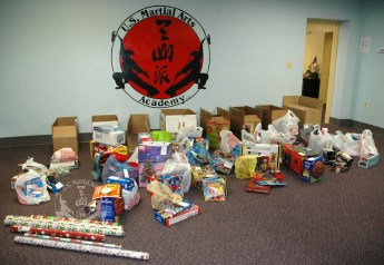 2010 Villa Maria Holiday donations at U.S. Martial Arts Academy, Ltd., Timonium, Maryland
