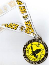 April Tien Shan Pai Legacy Tournament 1st Place medal