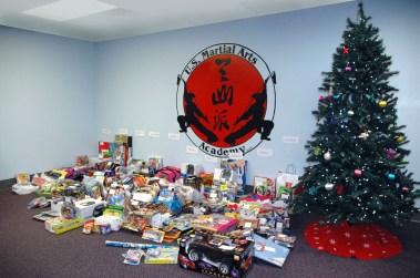 2011 Villa Maria Christmas gifts from US Martial Arts Academy, Ltd., Timonium, Maryland