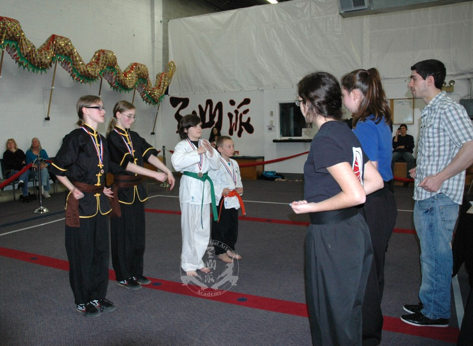 medal winners at the March 2013 In-house Tournament at U.S. Martial Arts Academy, Ltd, Timonium, Maryland