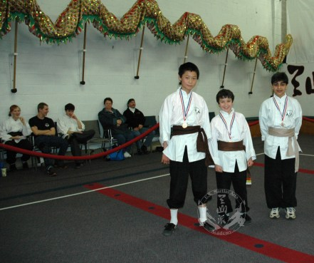 medal winners at the March 2013 In-house Tournament at U.S. Martial Arts Academy, Ltd. Timonium, Maryland