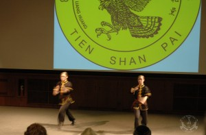 On April 21st, to celebrate his 40th anniversary of teaching in the U.S. Grandmaster Huang hosted the Tien Shan Pai Charity Demonstration at the Kossiakoff Center Auditorium of the Johns Hopkins Applied Physics Laboratory, (APL), Laurel, Maryland. US Martial Arts Academy, Ltd Black Sash students performing at the TIen Shan Pai Charity Demonstration. Funds raised were donated to Sparks of Change Foundation in honor of Daniel Siegel.