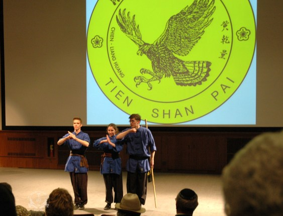 On April 21st, to celebrate his 40th anniversary of teaching in the U.S. Grandmaster Huang hosted the Tien Shan Pai Charity Demonstration at the Kossiakoff Center Auditorium of the Johns Hopkins Applied Physics Laboratory, (APL), Laurel, Maryland. Funds raised were donated to Sparks of Change Foundation in honor of Daniel Siegel.