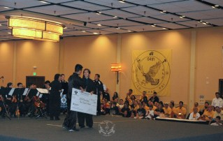 Scholarship winner at the 2013 U.S. International Kuo Shu Championship Tournament in Hunt Valley, Maryland
