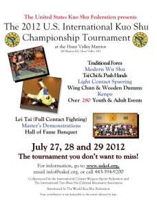 2012 U.S. International Kuo Shu Championship Tournament flyer